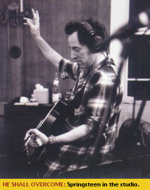 Bruce Springsteen in the studio